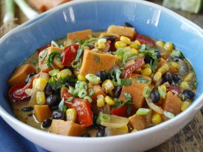 Image for Sweet Potato, Corn, and Black Bean Chowder