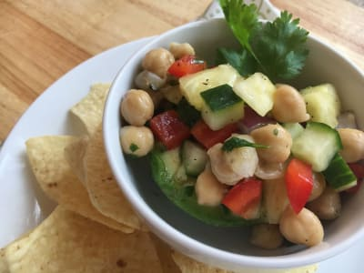 Image for Chickpea Ceviche in Avocado Boats