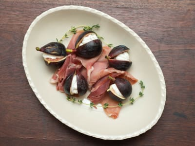 Image for Figs Stuffed with Herbed Goat Cheese and Prosciutto