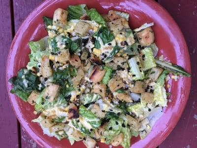 Image for Grilled Corn Caesar Salad with Fried Capers