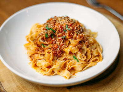Image for Fettuccine Pasta with Bolognese Sauce