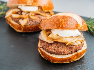 Image for Kobe Beef Burger with Caramelized Onion and Goat Cheese
