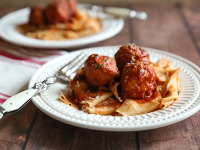 Image for Pressure Cooker Turkey Meatballs in Tomato Sauce
