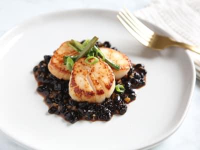 Image for Pan-Seared Sea Scallops in Black Bean Sauce