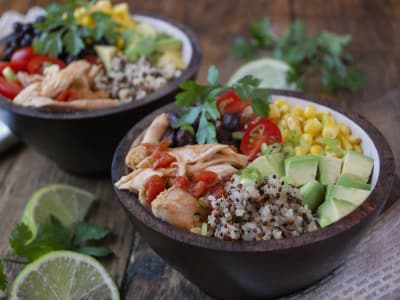 Image for Pressure Cooker Chipotle Chicken and Quinoa Bowls