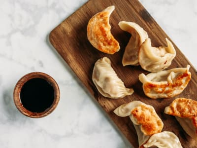Image for Shrimp and Chinese Broccoli Potstickers
