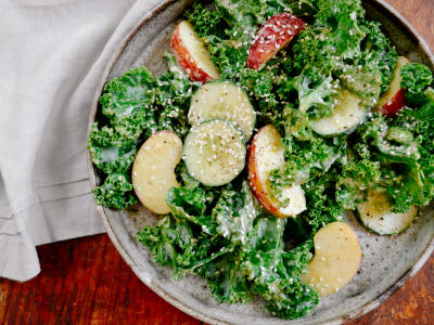 Image for Kale Salad with Tahini Dressing