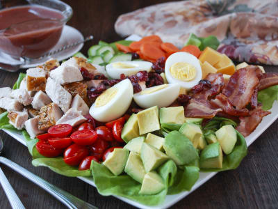 Image for Turkey Cobb Salad with Cranberry Vinaigrette