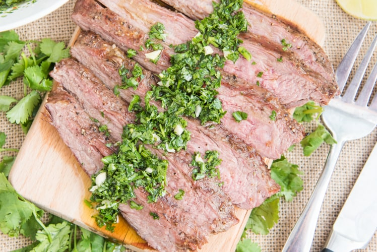 Image for Flank Steak with Chimichurri Sauce