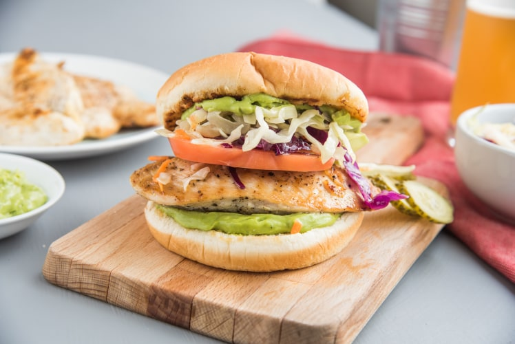 Image for Grilled Chicken Burger with Avocado Aioli