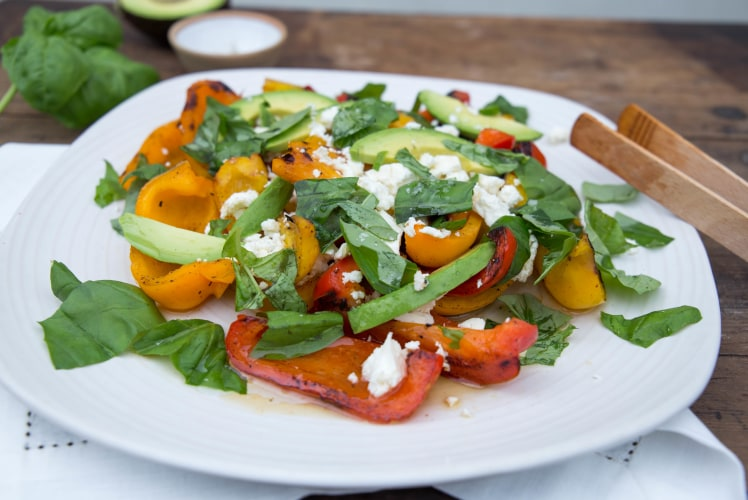 Image for Grilled Peppers with Feta and Basil