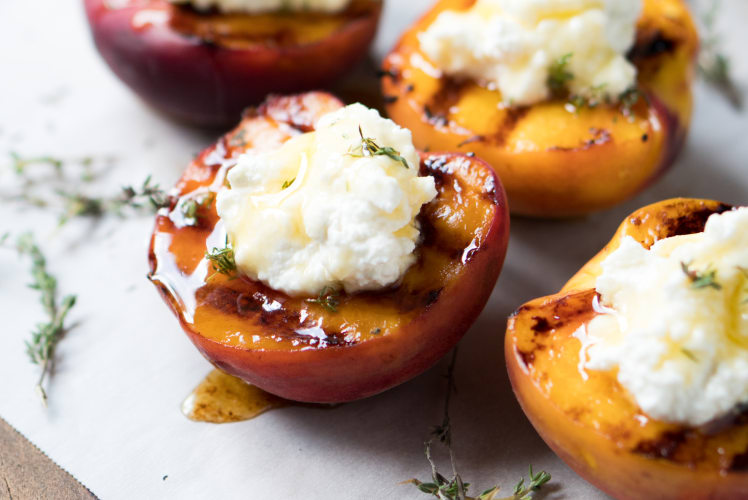 Image for Grilled Peaches with Honey and Ricotta
