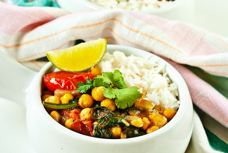 Image for Chickpea and Spinach Curry