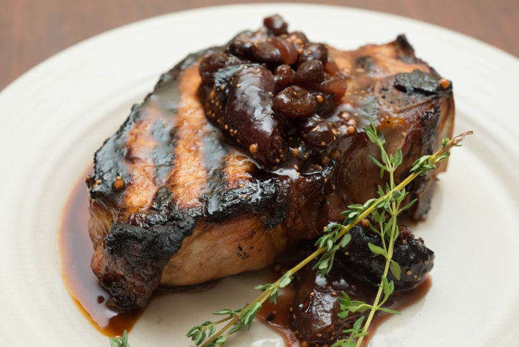 Image for Grilled Berkshire Pork Chops with Mission Fig Chutney