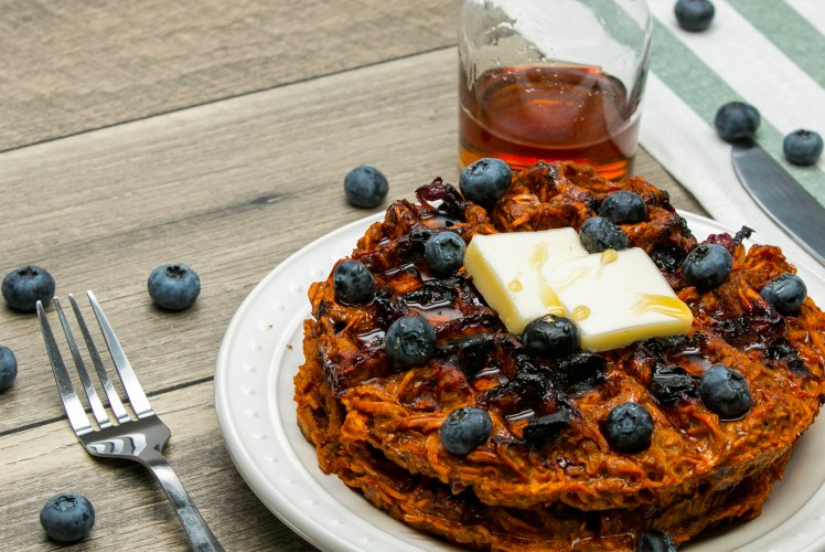 Image for Blueberry Sweet Potato Waffle