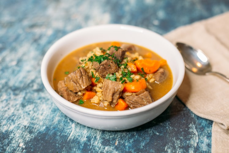 Image for Pressure Cooker Beef and Barley Soup