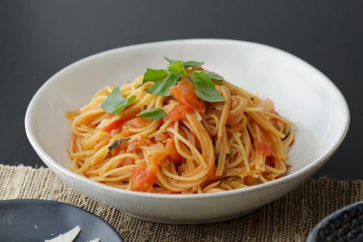 Image for Pressure Cooker Tomato-Basil Spaghetti