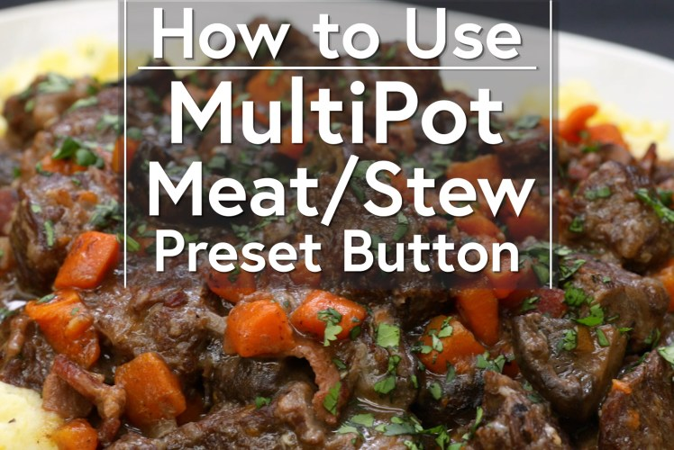 Image for Using the Meat/Stew Button