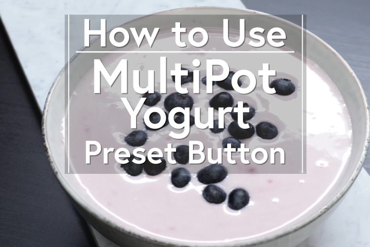 Image for Using the Yogurt Button