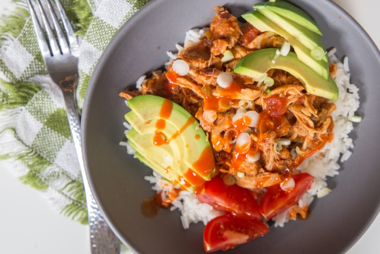 """Image for Dinner Smarter: Salsa Chicken Burrito Bowls + An Intro to """"Pot-In-Pot"""" Cooking"""