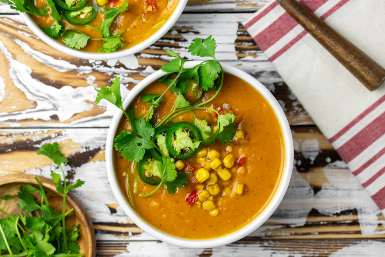 Image for Pressure Cooker Southwest Sweet Potato and Corn Chowder