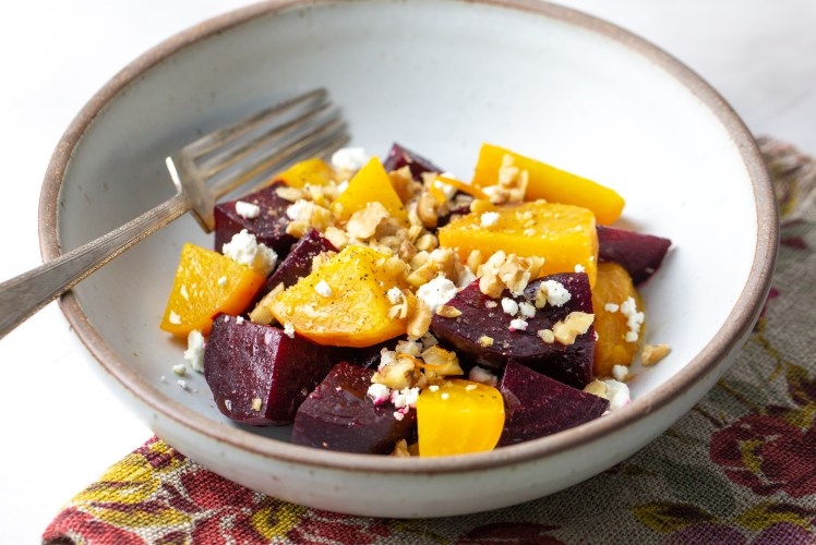 Image for Pressure Cooker Warm Beet Salad with Walnuts and Goat Cheese