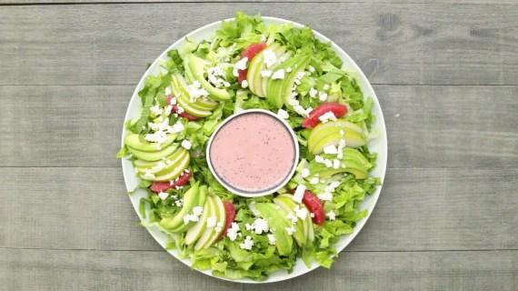 Salads For Christmas.Christmas Wreath Salad