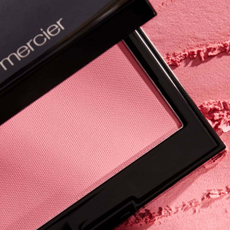 Sheer powder blush.