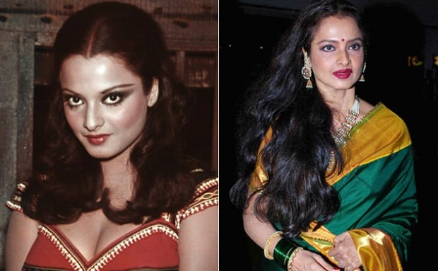 Rekha then and now
