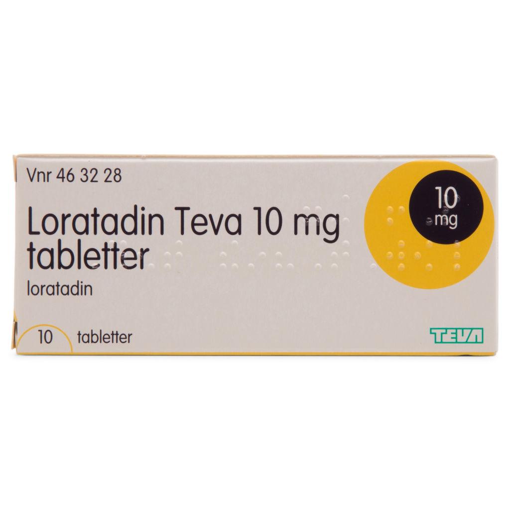 Ganska nice billigt till salu snygg Loratadin Teva   10 mg 10 Tabletter kun 23,95 kr   mecindo.dk