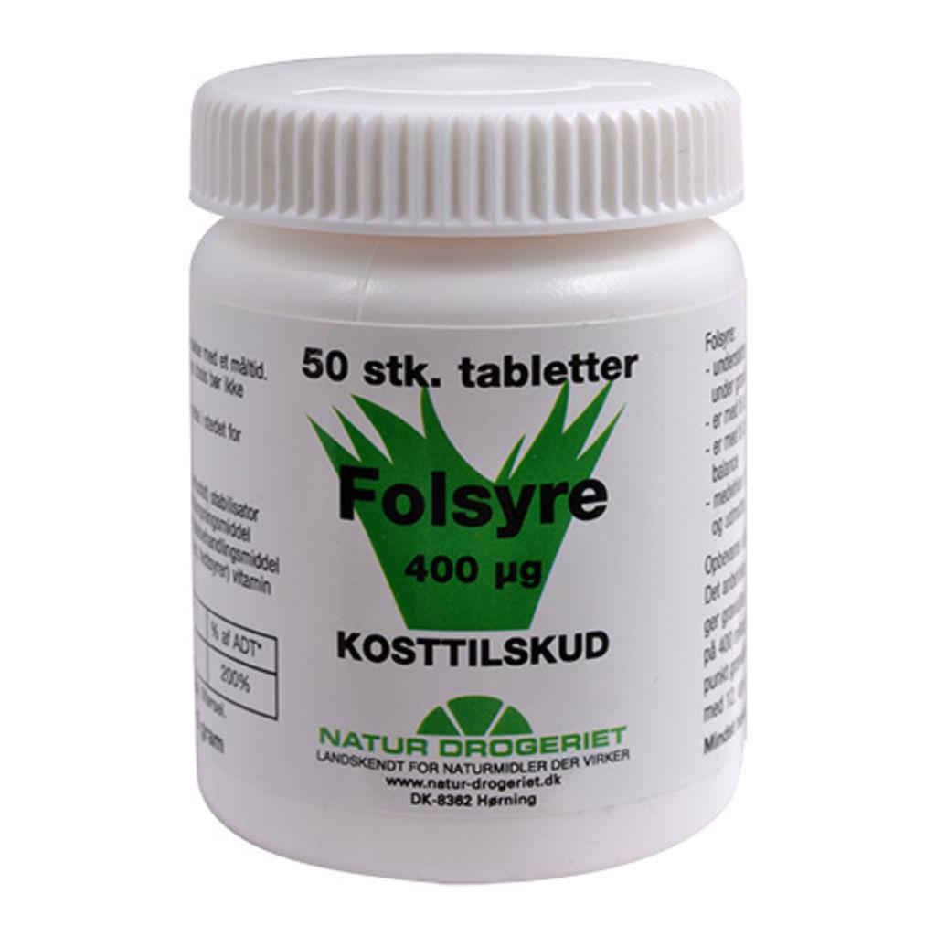 34f50497b58 Natur-Drogeriet Folsyre 400 Μg B9