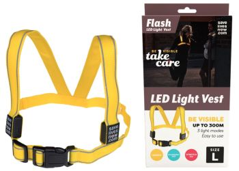Flash LED Light Vest 8 - 11 år
