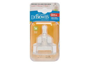 Dr. Brown Wide Neck Flaskesut 0m+