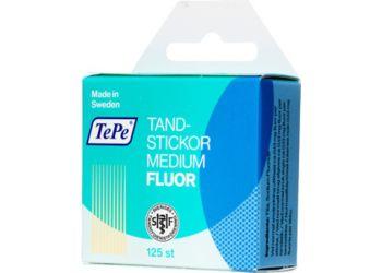Tepe tannstikker med fluor i tre