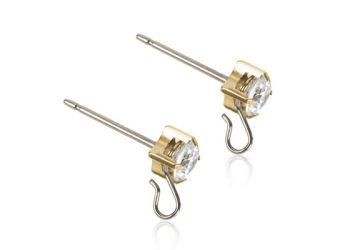 Blomdahl Ørestikker Safety Ear Pin Cz White