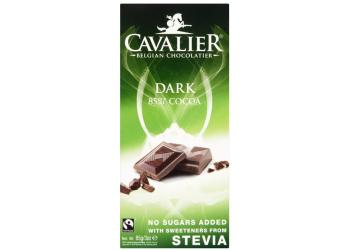 Cavalier Belgisk Mørk Sjokolade med Stevia