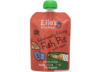 Ellas Kitchen Babymos fiskekager med laks & persille 7 mdr Ø