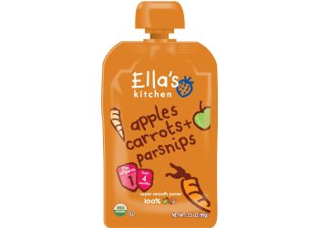 Ellas Kitchen Babymos gulerod, æble & pastinak 4 mdr Ø
