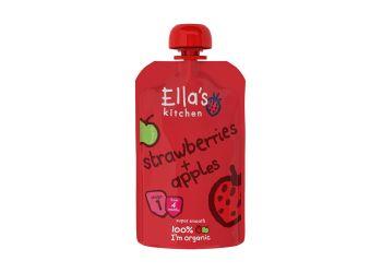 Ellas Kitchen Babymos jordbær & æble 4 mdr   Ø