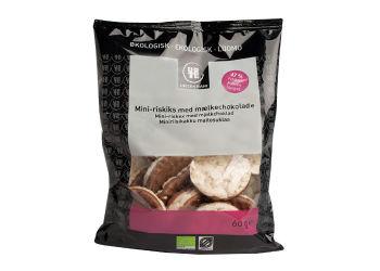 Urtekram Riskager mini m. mælkechokolade Ø