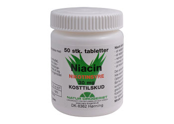 Natur-Drogeriet Niacin (Nikotinsyre) 30 Mg