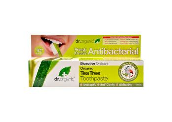 Dr. Organic Tandpasta Tea Tree  Indeholder Flour