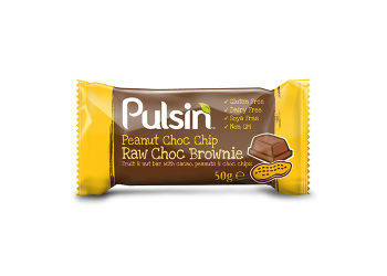 Peanut Choc chip raw choc brownie Pulsin