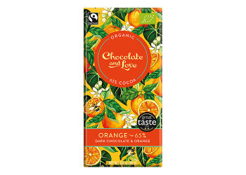 Chocolate & Love Chokolade Orange 65% Ø