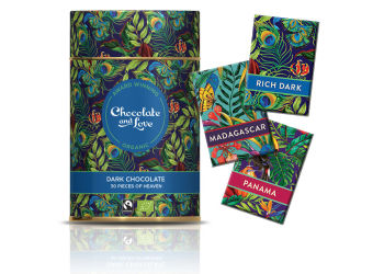 Chocolate and Love Presentbox - Rich dark, panama och madagascar.