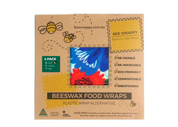 Bee Wrappy Beeswax Food Wraps 4 Pack