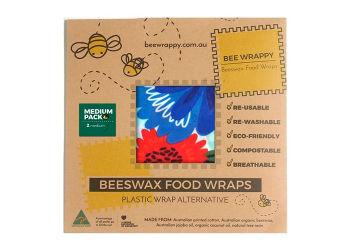 Bee Wrappy Beeswax Food Wraps 2 X Medium