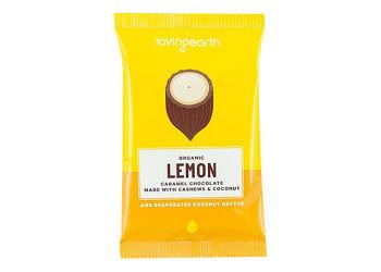 Loving Earth Chokolade Lemon m. Cashew & Kokos