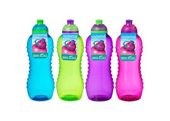 Sistema Drikkedunk 460 Ml Twist'n Sip Blå, Pink, Grøn, Lilla.