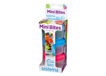 Sistema Mini Bites To Go 130 ml Grøn, Blå, Pink